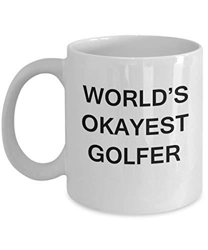 N\A El Golfista más Ok del Mundo: Taza de café de Porcelana Blanca, Tazas Divertidas Premium Taza de café Blanco Regalos Ideas