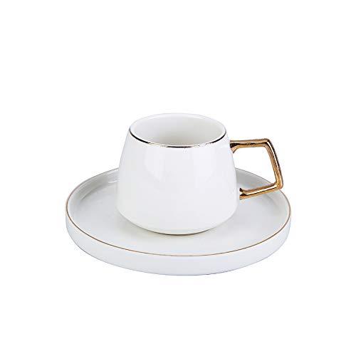 KARACA Saturn Teeservice fur 2 Personen, 2 Teetassen, Porzellan, fur Kaffee, Tee, Milch, turkischer Kaffee-Espresso Set-Türkisch Traditionalkaffee Tasse