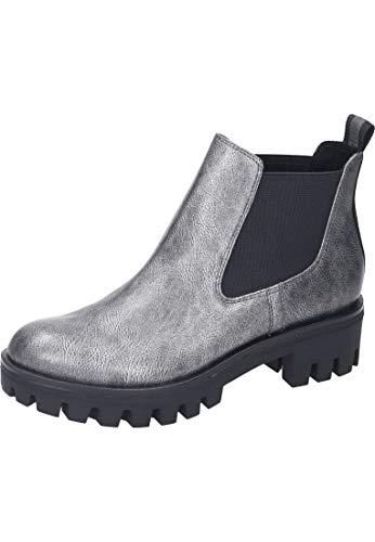Tamaris Damen Chelsea Boots Silber/Grau, Schuhgröße:EUR 38