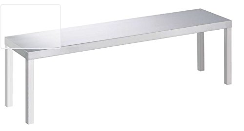 Aufsatzbord Edelstahl Regal Schrank 1 etagig ALLE GRÖßEN Wandbord Möbel Gastro (1600 x 300 350 mm)