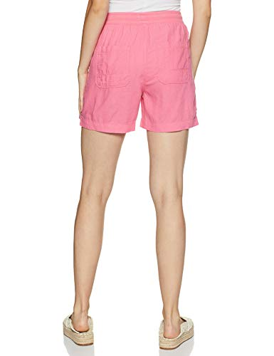 Marks & Spencer Women's Synthetic Shorts (T57/3368_Pink_S)