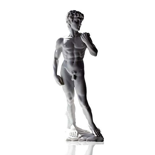 Estatua polvo de mármol Carrara David Michelangelo Powder marble sculpture H17cm