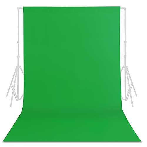 TRLYC Photography Backdrop Photo Background - Green Screen for Video Recording Seamless Background, 5x8FT