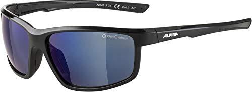ALPINA Unisex - Erwachsene, DEFEY Sportbrille, black, One size