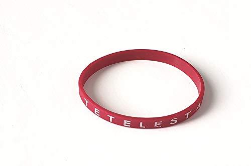 Revelation Culture Tetelestai Bracelet Christian Silicone Thin Wristband Red
