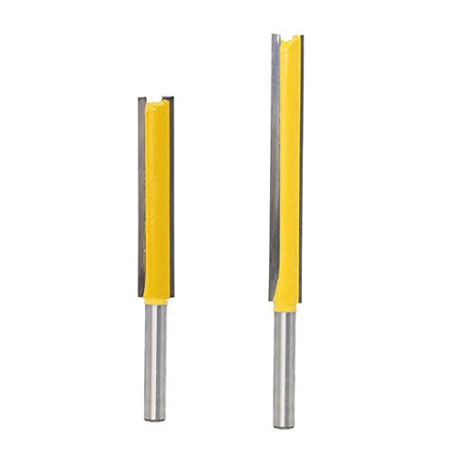 2 Stücke Fräser Nutfräser Holzfräser mit 8mm Schaft, Langer Schnittlänge, Gesamtlänge 83 / 113mm, Schnittlänge 70,6mm 50,8 mm