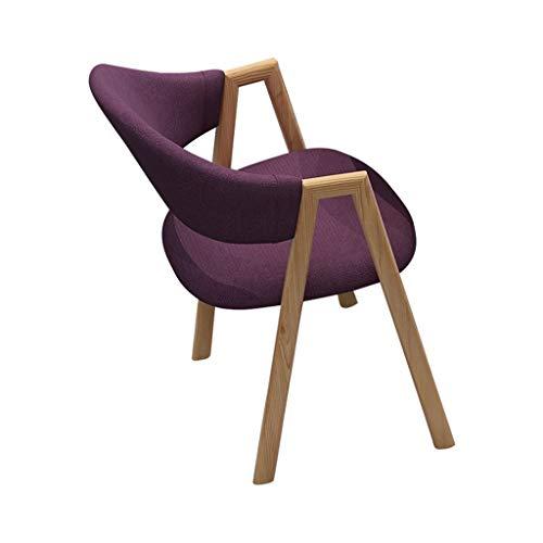 TXXM Silla de escritorio simple para estudiantes y silla de maquillaje, taburete de ordenador para la parte trasera del hogar (color: morado)