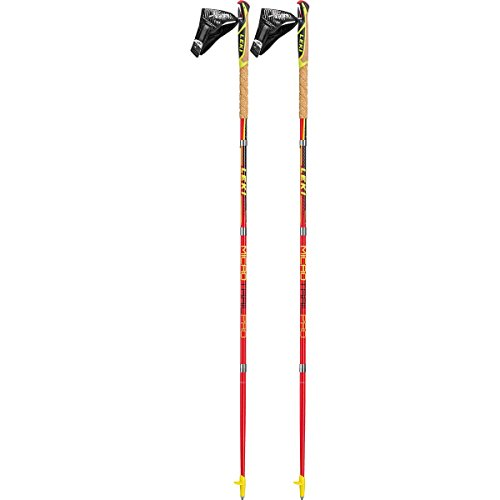 LEKI Micro Trail Pro Canne de Marche Nordique 120 Neon Red/Black/Anthracite/Neon Yellow