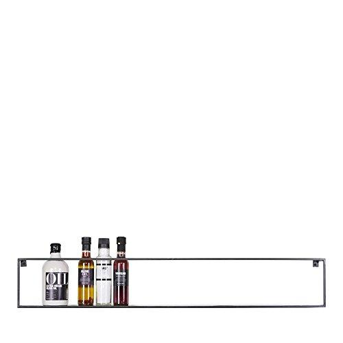 Wandregal Meert - Schweberegal - Hängeregal oder Küchenregal mit Breite 100cm und Tiefe 8cm für Deko, Bücher, Flaschen, Pflanzen - Aufbewahrungsregal für Wohnzimmer, Küche, Kinderzimmer, Flur & Diele