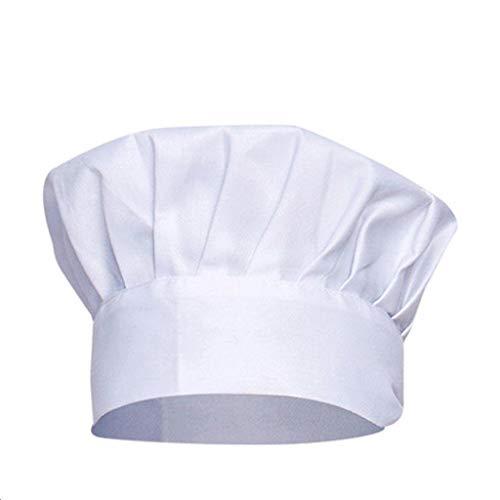 Vektenxi Kochmütze Kinder Restaurant Hut westliche Küche Kochen Kochküche Küche Elastizität einstellbar Verkleidung Kappe Lange Kochmütze Unisex weiß bequem Praktisch und beliebt