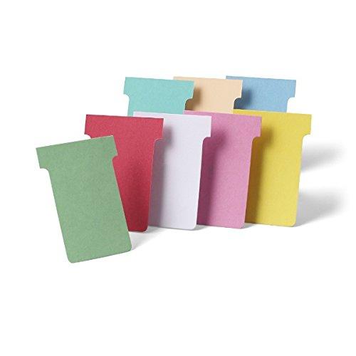 Nobo T-Karten 100 Stück Index 2 Gelb