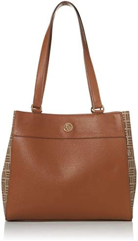 Anne Klein womens 4 poster Anne Kleein 4 Poster Bag with Pouch Saddle 11 75 x 4 5 D 10 H US product image