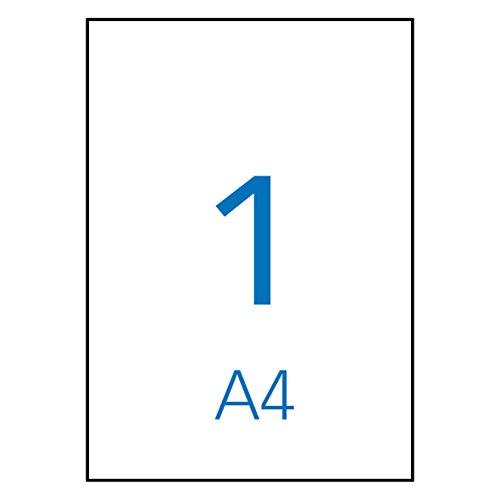 Apli Paper 1281 Etiquetas Adhesivas Blancas 100 h Inkjet Laser Copy 210,0X297,0 100H de Apli Paper S.A.U