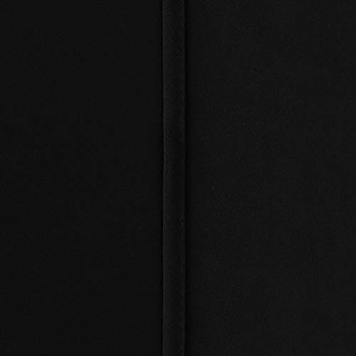 Deconovo Room Darkening Thermal Insulated Blackout Grommet Window Curtain for Living Room, Black,42x63-inch,1 Panel