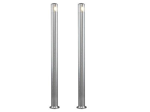 Konstsmide Lot de 2 en aluminium massif Socket Leuchten Monza, 6 W LED High Power IP44, 7923–310
