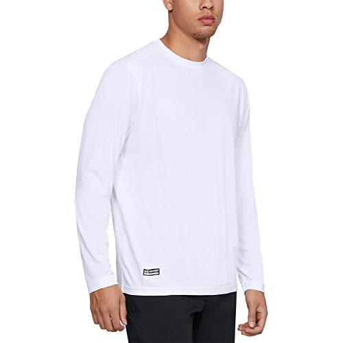 Under Armour Men's Tactical Tech Long-Sleeve Shirt , White (100)/White , Medium