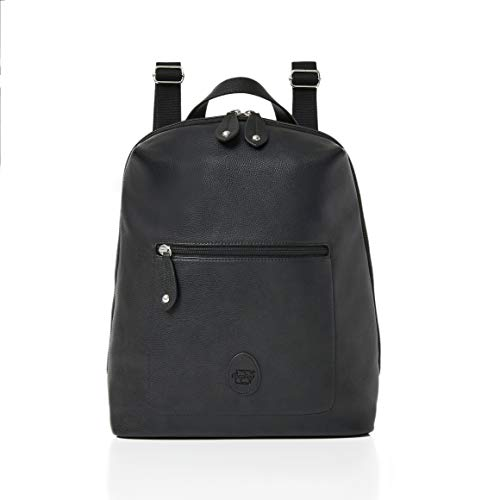 PacaPod Hartland Backpack Baby Changing Bag - Luxury Vegan Leather Designer 3 in 1 Organising System With Convertible Straps (Black)