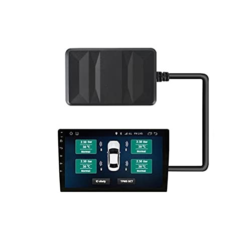 CAIBING ZHUJUNWEN Ajuste para la Radio del Coche DVD Jugador TPMS USB Sistema de monitoreo de presión de neumáticos Neumático de Repuesto Sensor Externo Interno Android TPMS (Color : External)