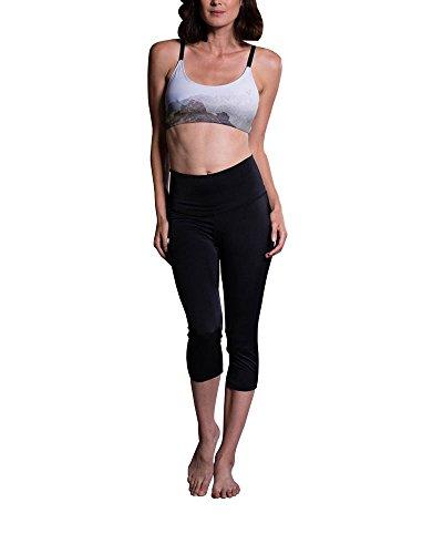 Onzie Hot Yoga High Rise Capri 259 Black (Black, Medium/Large)