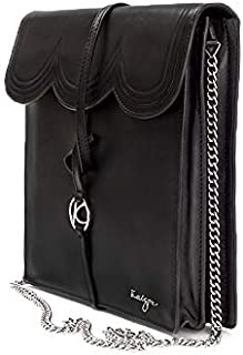 Kaizer KZ2206BLK Leather Crossbody Bag for Women - Black