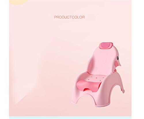 XKRSBS Kinder Shampoo Stuhl Shampoo Baby Klappbett Shampoo Freizeit Stuhl Home Shampoo Sit,Pink