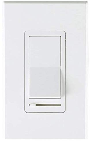 Cloudy Bay in Wall Dimmer Switch for LED Light/CFL/Incandescent,3-Way Single Pole Dimmable Slide,600 Watt max,Cover Plate Included