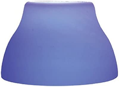 Jesco Lighting QASA103BU Step Cone Glass Shade for Quick Adapt Spot Light, Solid Blue Finish