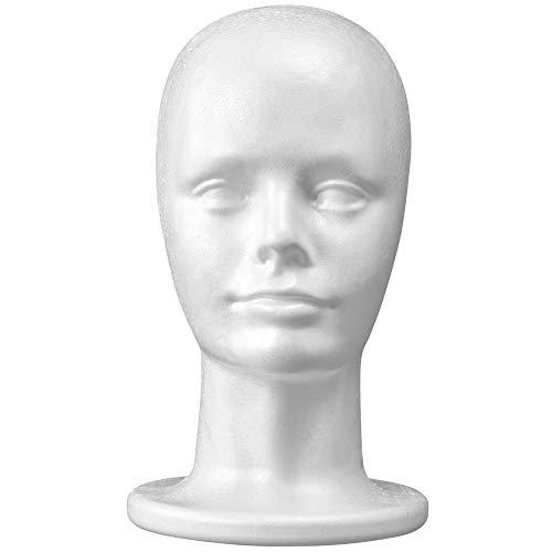11 Inch Styrofoam Mannequin Wig Head Foam Manikin Display Head Wig Hat Stand White Foams - Style, Model & Display Womens Wigs, Hats & Hairpieces