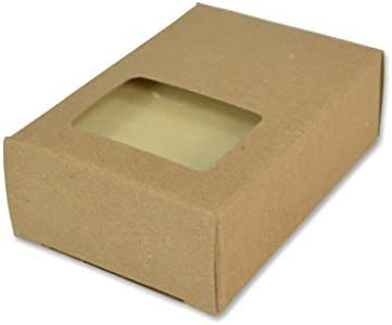 CYP Kraft Rectangle Window Soap Box Homemade Soap Packaging Soap Making Supplies 100 Recycled product image