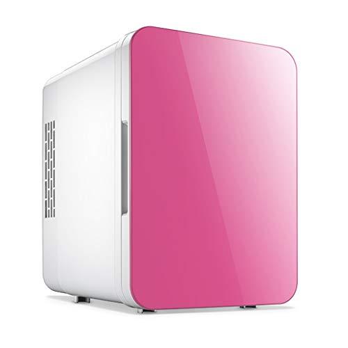 Mini elektrische kabel AC/DC radiatorverwarmer 5 pins, kleine koelkast voor lunch en dranken, compacte koelkast voor slaapplaats voor op de weg Roze