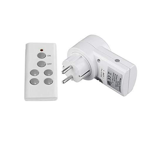 N / E Inicio Control Remoto Inalámbrico Casa Toma de corriente Interruptor de luz Socket 1 Conector remoto UE enchufe BH9938-1 DC 12V