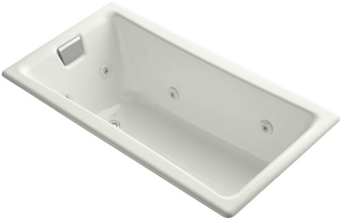 Review Kohler K-852-HB-NY Tea-For-Two 5Ft Whirlpool with Custom Pump Location, Dune