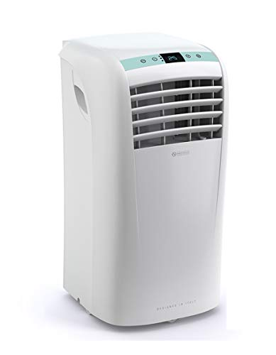Olimpia Splendid 01961 Dolceclima Portable Air Conditioner Unit with Cooling, Fan, Dehumidifier, Gas R290, Design Made in Italy, White