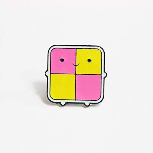 MKOIJN Broche Geruite Inductie Kookplaat Leuke Badges Meisjes Tas Accessoires Kleding Hoed Rugzak Broche Voor Verjaardagscadeau PartijShirt Broche