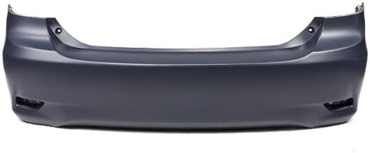 CarPartsDepot, Primered black Plastic Rear Bumper Cover Replacement Canada Built, 352-442176-20-PM TO1100287 5215902977