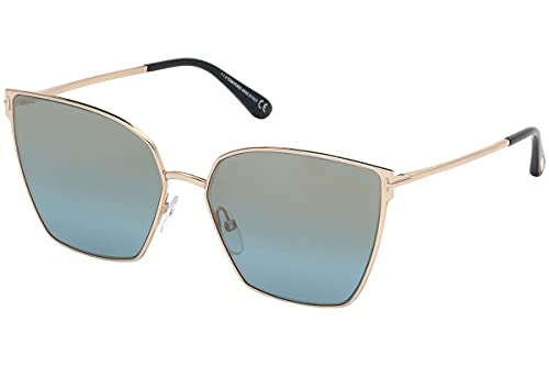 Tom Ford FT0653 28V Shiny Rose Gold Helena Cats Eyes Sunglasses Lens Category 2