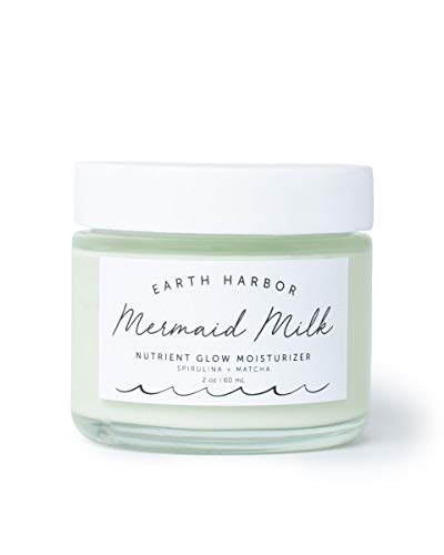 Earth Harbor | MERMAID MILK Nutrient Glow Moisturizer | Lightweight Botanical Hydration | Matcha and Spirulina | 100% Non-GMO + Plant-Based