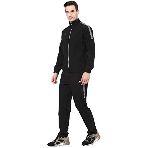 Nivia 2460 CARBOXY-3 Upper Tracksuit, S (Black)
