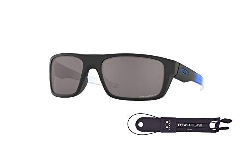 Oakley Drop Point OO9367 936732 60MM Matte Black/Prizm Black Polarized Rectangle Sunglasses for Men +BUNDLE with Oakley Accessory Leash Kit
