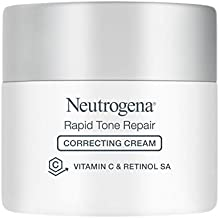 Neutrogena Rapid Tone Repair Vitamin C Brightening Correcting Cream, Tone Evening Face, Neck, and Chest Cream with Vitamin C, Retinol, and Hyaluronic Acid for Dark Spots and Wrinkles 1.7 oz
