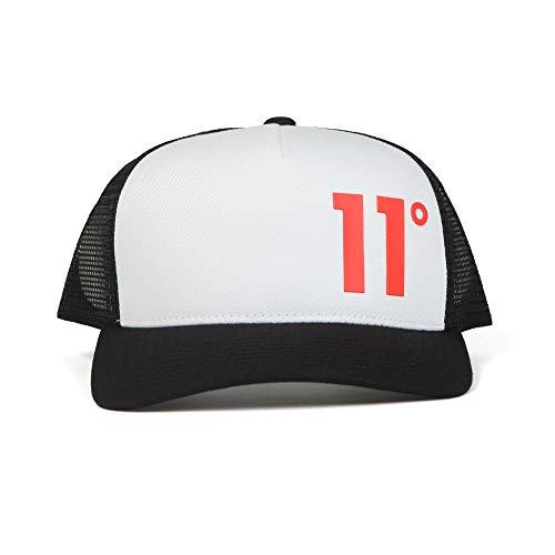 Eleven Degrees - Gorra de camionero, color negro y blanco