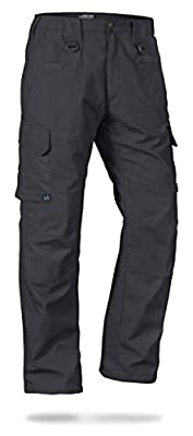 LA Police Gear Men's Water Resistant Operator Tactical Pant with Elastic Waistband CHC-40 x 34 Charcoal