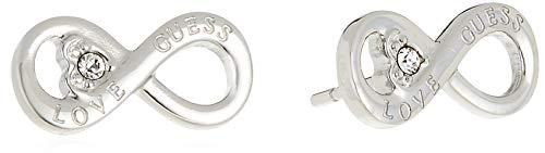 Guess Pendientes de botón Mujer chapado en plata - UBE85010