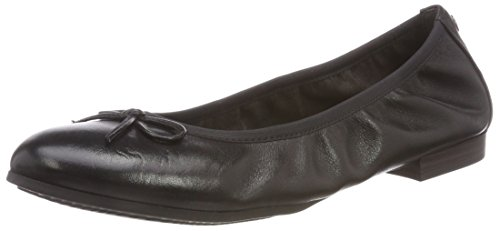 Tamaris Damen 22116 Geschlossene Ballerinas, Schwarz (Black Leather 003), 37 EU