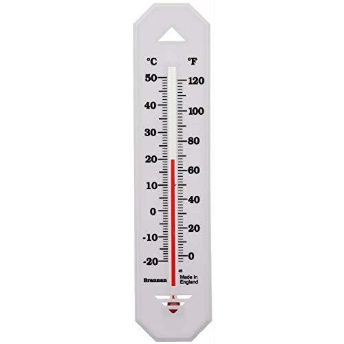 Termómetro de pared para interiores y exteriores, cocina, patio, oficina, jardín, invernadero, habitación Brannan, plástico