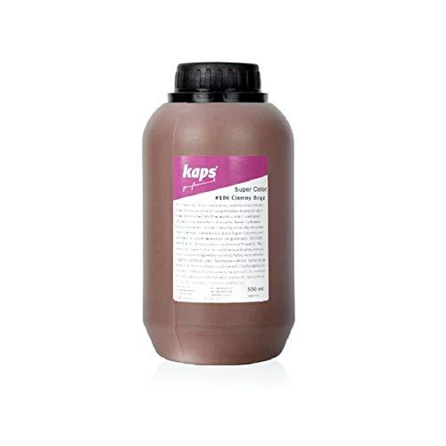 Lederfarbe für Naturleder, Sythetik und Textil. Entwickelt Super Color Kaps 500ml, Dunkelbraun 106