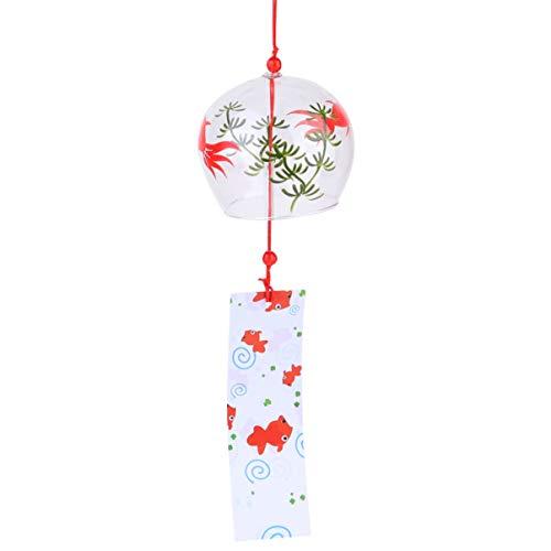 Garneck Carillons Éoliens Japonais Cloches à Vent en Verre Créative Suspendue Cloche à Vent pour Spa Décor Bureau Jardin Décor à La Maison