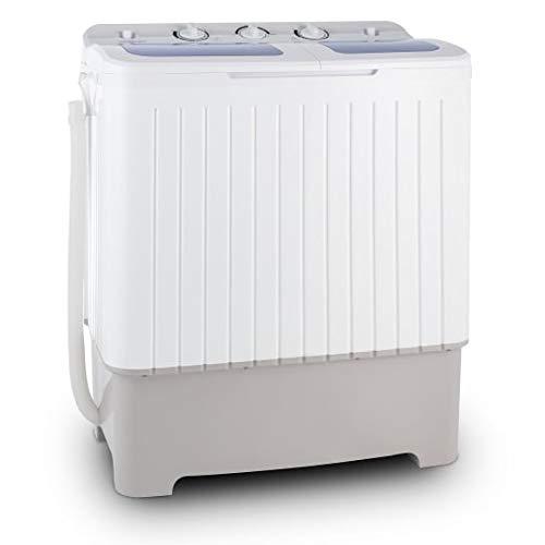 oneConcept Ecowash XL • lavatrice • mini-lavatrice • capacità 4,2 kg • 300 W • capacità centrifuga da 3 kg • centrifuga da 110 Watt • 2 programmi • silenziosa • acqua e risparmio energetico • bianco