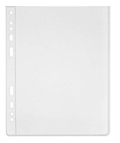 Veloflex 4360500 Prospekthüllen A6, Klarsichthüllen, Klarsichtfolien, PP-Folie, Eurolochung, 50 Stück
