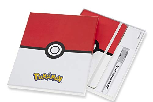Moleskine LEPOQP060CLT - Cuaderno de edición limitada Pokemon, grande, a rayas para coleccionistas
